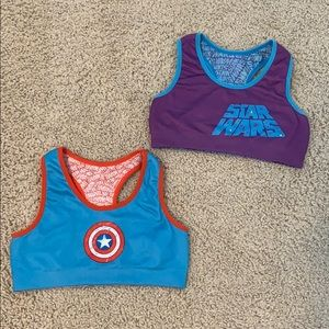 Reversible Youth Graphic Sports Bras